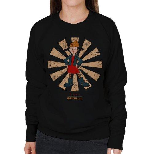 (Small, Black) Spinelli Retro Japanese Recess Women's Sweatshirt