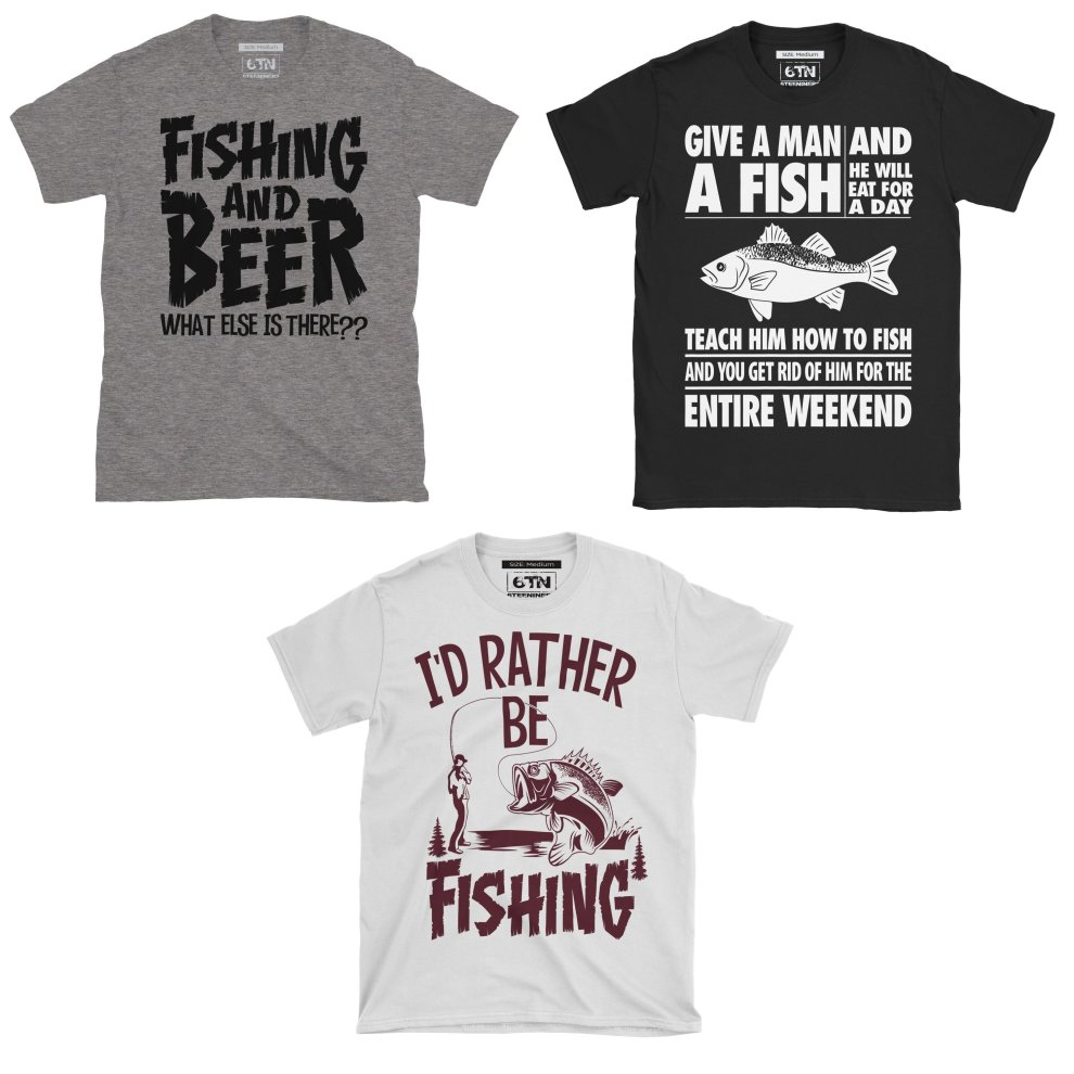 Id Rather Be Fishing Tshirt Funny T Shirt Fish Carp Fisherman Fly Game Coarse