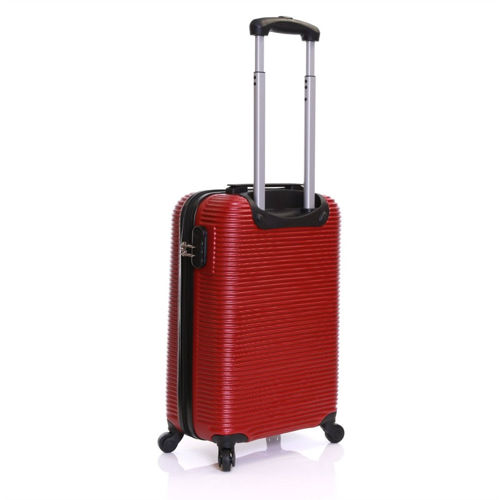 e13f47ac1 ... Karabar Grantham Super Lightweight ABS Hard Shell Travel Carry On Cabin  Hand Luggage Suitcase with 4 ...