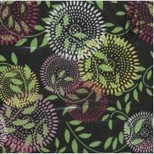 Ti-Flair Pack of 20 Napkins / Serviettes - Black Retro Circle - 33cm x 33cm - 3ply
