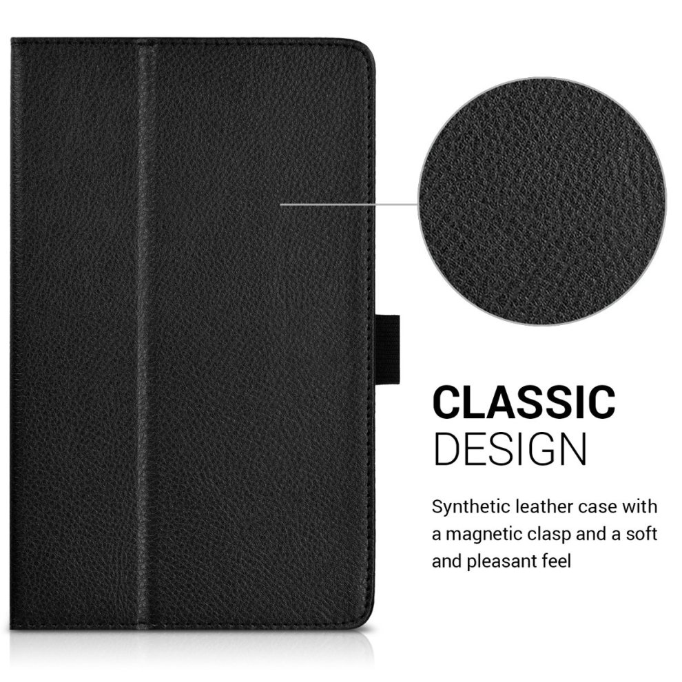 finest selection 14c3a 54592 kwmobile Case for Huawei MediaPad T3 8.0 - Slim PU Leather Protective  Tablet Cover with Stand Feature - Black