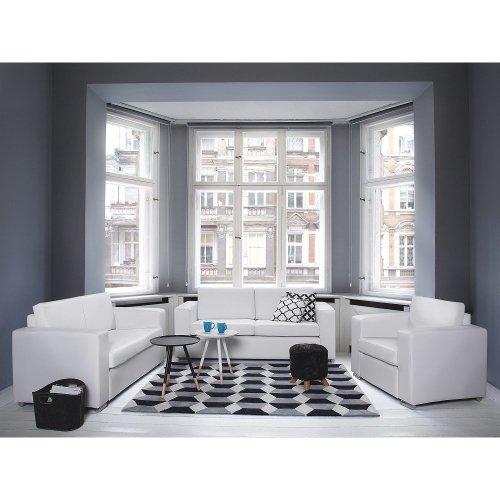 Leather Sofa - 2 Seater Sofa - White - HELSINKI