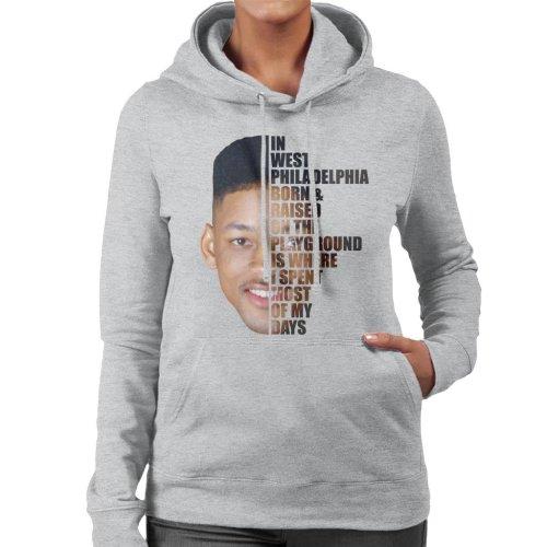 Fresh Prince Of Bel Air Half Head Text Women's Hooded Sweatshirt