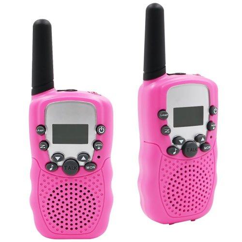 COOJA Walkie Talkies, 2pcs Kids Walkie Talkie Children Walky Talky 3-5KM Range 8 Channels 2 Way Radio Handset Toys Auto Channel Scan Built-in LED...