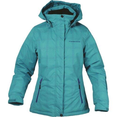 Five Seasons Anya Womens Ski Jacket with Hood Lagoon Blue