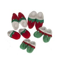 Adult's Christmas Elf Slippers -  adults novelty elf slippers christmas bell red green various sizes available