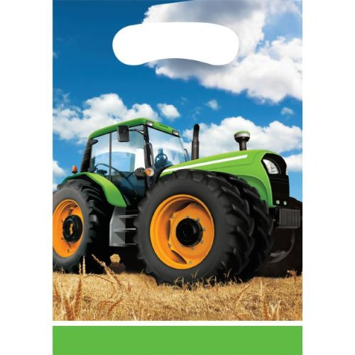 Tractor Party Party bags 8 farm equipment and agricultural machinery tractor kids birthday Size