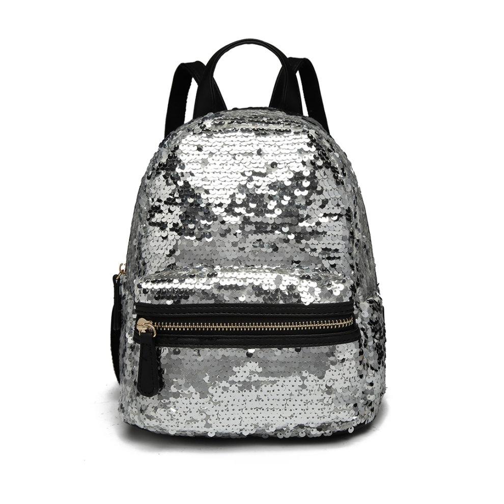44a3a0d69 ... Miss Lulu Sequins Backpack Women Small Rucksack Girls School Bag - 1 ...