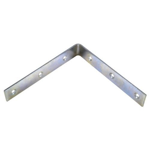 Bulk Hardware BH00160 Bright Zinc Plated Corner Braces Brackets Plates, 150 mm/6 inch - Pack of 10