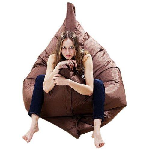 XXXL GIANT BEANBAG CUSHION PILLOW INDOOR OUTDOOR RELAX GAMING GAMER BEAN BAG [Chocolate Brown]