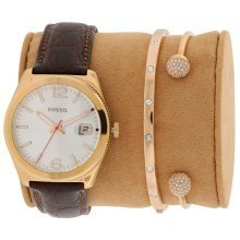 Fossil Boyfriend Rose Gold-Tone Ladies Watch ES3770