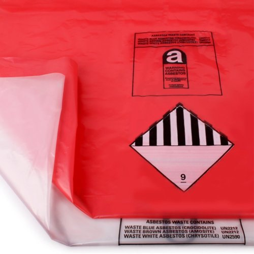 Heavy Duty Asbestos & Rubble Waste Removal Bags. X10 Red & X10 Clear - Comes With TCH Anti-Bacterial Pen!