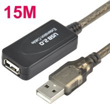 Trixes 15m USB 2.0 Active Repeater Extension Cable