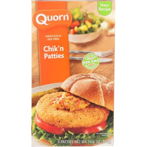 Quorn KHFM00765131 Meatless & Soy Free Chicken Patties, 4 Count - 10.6 oz