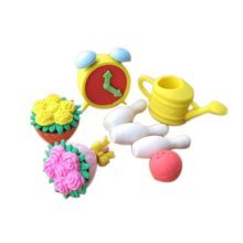 3 Sets Of Creative Cute Cartoon Erasers Bowling Modeling