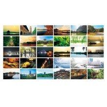 30PCS 1 Set Creative Postcards Artistic Beautiful Postcards, Hangzhou Impression